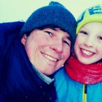 Pappa, Karelius og Amanda i Pølsesvevet på fredag (skolefri).